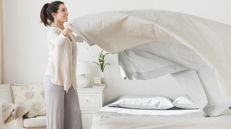Меняйте постельное белье для профилактики паразитов